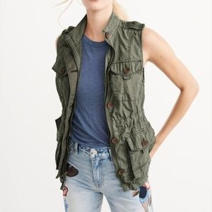 Abercrombie & Fitch Green Military Vest